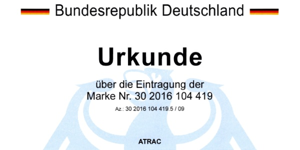 atrac® has been registered with the German Patent and Trademark Office